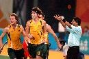 图文:曲棍球邀请赛澳大利亚男队夺冠 进球庆祝