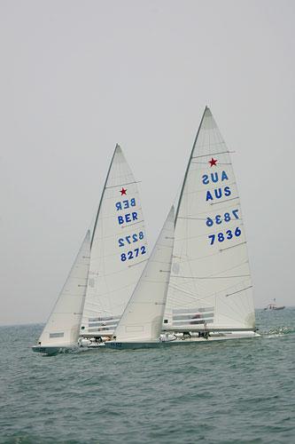 图文:青岛奥运帆船测试赛 星级帆船海上扬帆