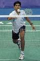 图文:[羽毛球]印尼选手索尼逆转对手 对手回球