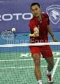 图文:[羽毛球]印尼选手索尼逆转对手 网前技巧