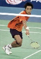 图文:[羽毛球]李炫一2比0佐藤翔治 力不从心