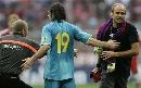 图文:绍尔告别赛巴萨1-0拜仁 梅西一锤定音