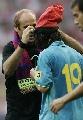 图文:绍尔告别赛巴萨1-0拜仁 吉米蹦再次出现