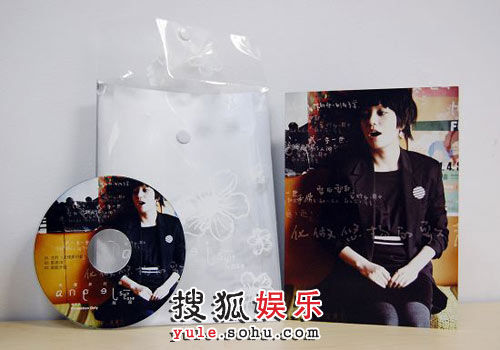 图:赵薇打榜碟曝光 CD盘面+花纹封套
