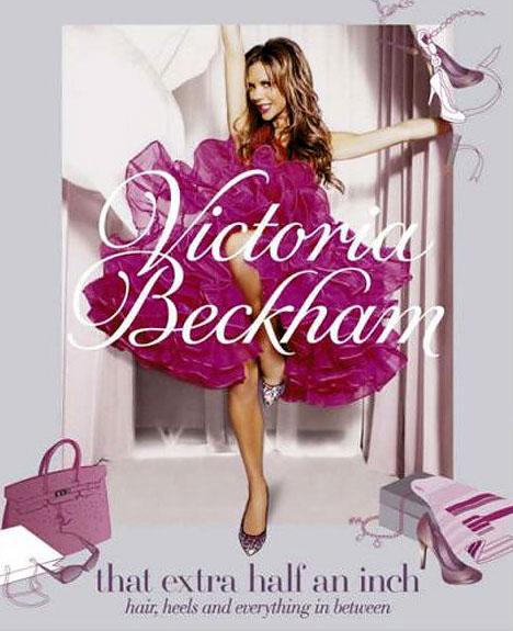在去年十月份发行的英国版本的封面上,维多利亚的感觉更无拘无束一些。她穿着粉红色的舞会裙,高举起纤细的长腿,以一种使人惊骇、略显邪恶的表情望向摄影镜头