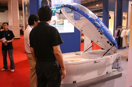 图文:第二十一届体博会开幕 运动科技产品展示