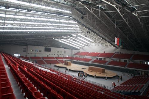 图文:农大体育馆完工 中国农业大学场馆内部