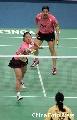 图文:[羽毛球]杨维/张洁雯内战取胜 网前技巧