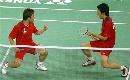 图文:[羽毛球]郑在成/李龙大晋级 来之不易
