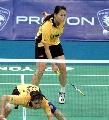图文:[羽毛球]杨维/张洁雯内战取胜 再得一分