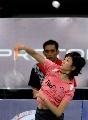 图文:[羽毛球]内战朱琳2-0卢兰晋级 主动进攻