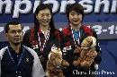 图文:[羽毛球]小将朱琳2-0王晨夺冠 并列第三