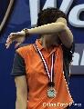 图文:[羽毛球]小将朱琳2-0王晨夺冠 是泪是汗