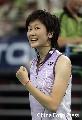 图文:[羽毛球]小将朱琳2-0王晨夺冠 美女朱琳