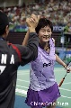 图文:[羽毛球]小将朱琳2-0王晨夺冠 苦尽甘来