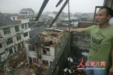 被台风袭击后的家园3