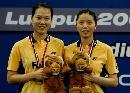 图文:[羽毛球]杨维张洁雯2-0高��黄穗 女双冠军