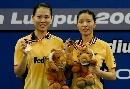 图文:[羽毛球]杨维张洁雯2-0高��黄穗 紧握金牌