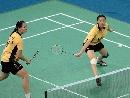 图文:[羽毛球]杨维张洁雯2-0高��黄穗 专注比赛