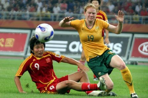 马晓旭虽然卖力拼抢,但最终没能帮助女足取得胜利