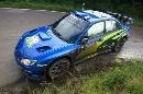 图文:[WRC]勒布称雄德国站 索伯格漂移过弯