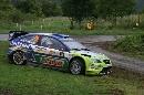 图文:[WRC]勒布称雄德国站 驾控失误滑出赛道
