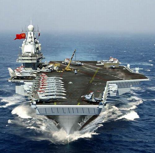 中国海军重型航母想像图