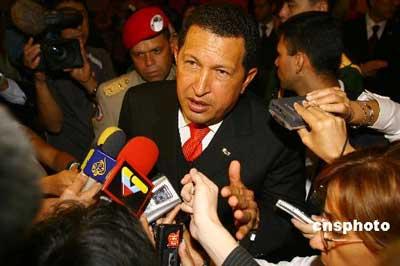 资料图片:委内瑞拉总统查韦斯 中新社发 盛佳鹏 摄