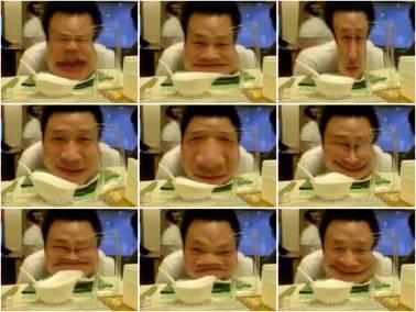"""网友马丁宁用K818拍摄的""""变脸"""""""