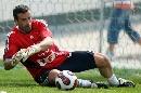 友谊赛-法国VS斯洛伐克 门将拉梅扑救训练