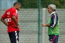 图文:[友谊赛]法国VS斯洛伐克 刚刚转会的亨利