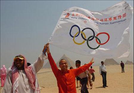 民间奥运宣传团展开一系列活动