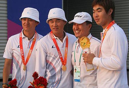 图文:07国际射箭男团比赛落幕 冠军韩国队
