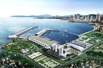 图文:青岛奥林匹克帆船中心 场馆整体效果图