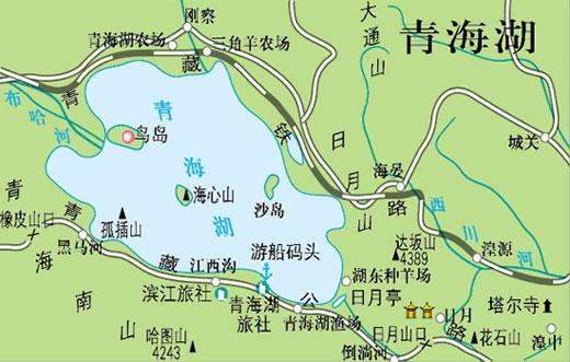 青海湖旅游地图