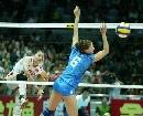 图文:中国女排3-2力克意大利 中国队强攻得手