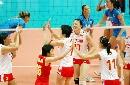 图文:中国女排3-2力克意大利 来之不易的胜利