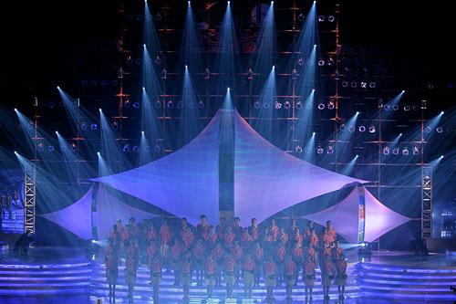 图文:2007青帆赛闭幕式 集体大合唱