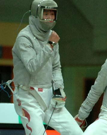 图文:亚洲击剑锦标赛 王敬之男佩剑个人赛夺冠