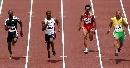图文:男子100米预赛 美国飞人盖伊轻松晋级