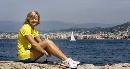 图文:田径美女卡卢尔写真 修长双腿运动本色