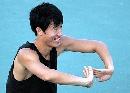 图文:[田径]刘翔训练遭遇特拉梅尔 双掌合拢