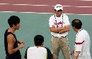 图文:[田径]刘翔训练遭遇特拉梅尔 指导二人