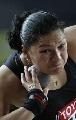 图文:田径世锦赛女子铅球 夺冠的维利在比赛中