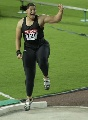 图文:田径世锦赛女子铅球 维利夺冠手舞足蹈