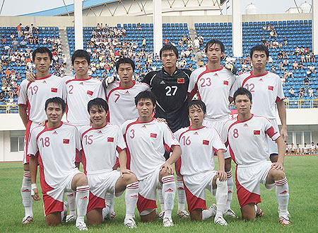 图文:[邀请赛]国青0-1韩国 中国首发11人