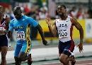 图文:[田径]世锦赛百米决赛 盖伊与对手争夺中