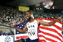 图文:[田径]世锦赛百米决赛 盖伊俨然成为英雄