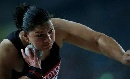 图文:田径世锦赛女子铅球 冠军维利在比赛中