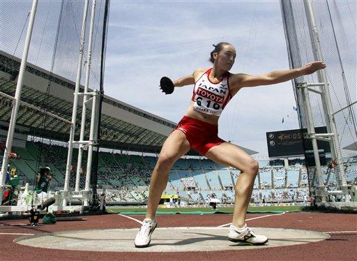 图文:世锦赛女子铁饼资格赛 日本选手需势待发
